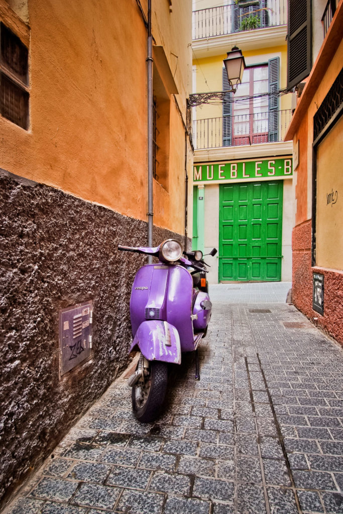 """Honorable mention, Travel category: """"Purple Scooter and Green Door"""" by Alexander S. Kunz"""