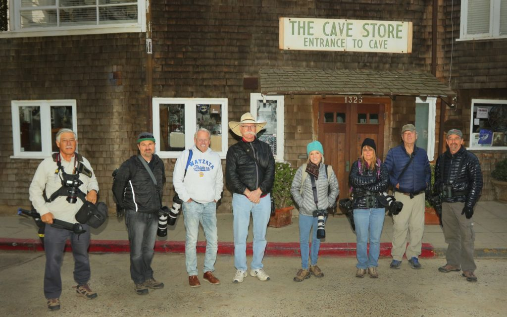 Group of photographers in front of the La Jolla Cave Store on December 23rd 2017.